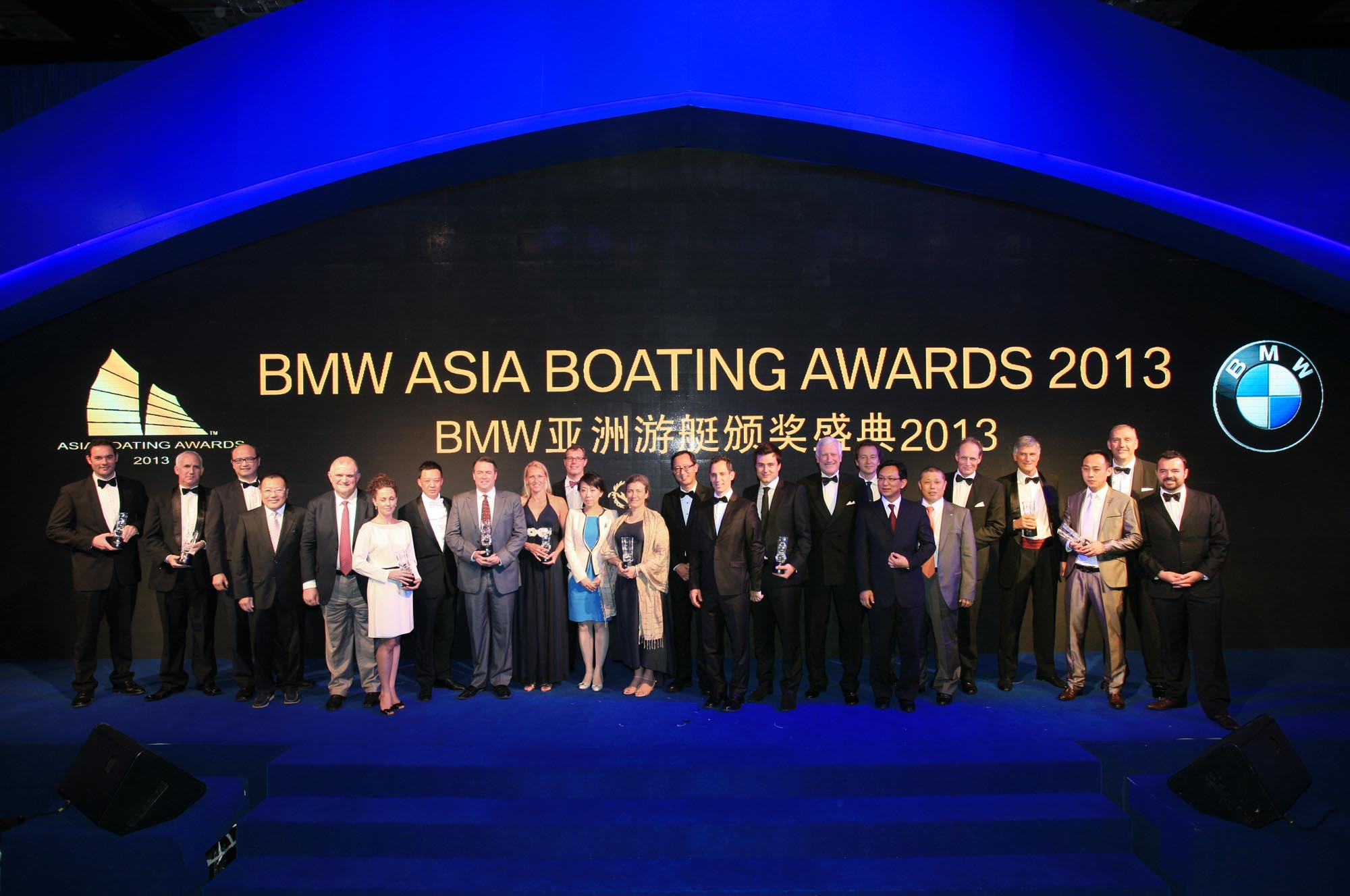 Blu Inc Media, BMW and Serenity Coast top management with award winners